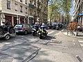 Avenue Félix Faure (Lyon), passage de motards de la police.jpg