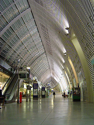 High-speed rail in France - Avignon TGV station