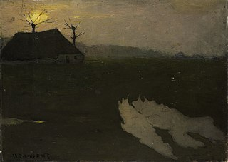 Avondlandschap met maan (1891)