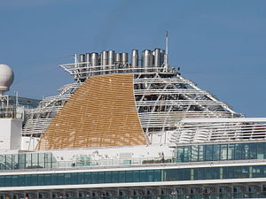 Azura' Funnel 25 May 2012 Port of Tallinn.JPG
