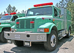 San Bernardino National Forest - Photo of Engine 57 before it was destroyed.