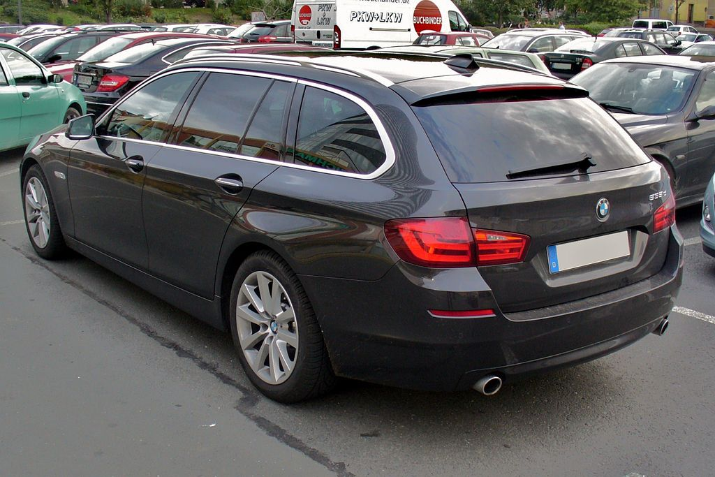 file bmw 535d touring sophistograu heck jpg wikimedia. Black Bedroom Furniture Sets. Home Design Ideas