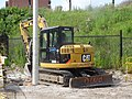 Backhoe beside Lower Sherbourne, south of the railway embankment, 2015 07 18 (2).JPG - panoramio.jpg