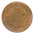 Baksida av medalj med bild av lagerkrans samt text - Skoklosters slott - 99313.tif