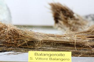 Balangeroite single chain inosilicate mineral