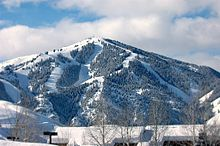 The Bald Mountain Ski Area in Ketchum during winter