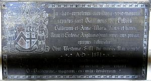 John Allen Giles - Image: Baldwin Fulford (1801 1871) Brass Dunsford Church Devon
