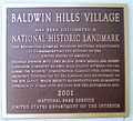 Baldwin Hills Village, Landmark Plaque.jpg