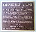 Baldwin Hills Village, Landmark Plaque.jpg