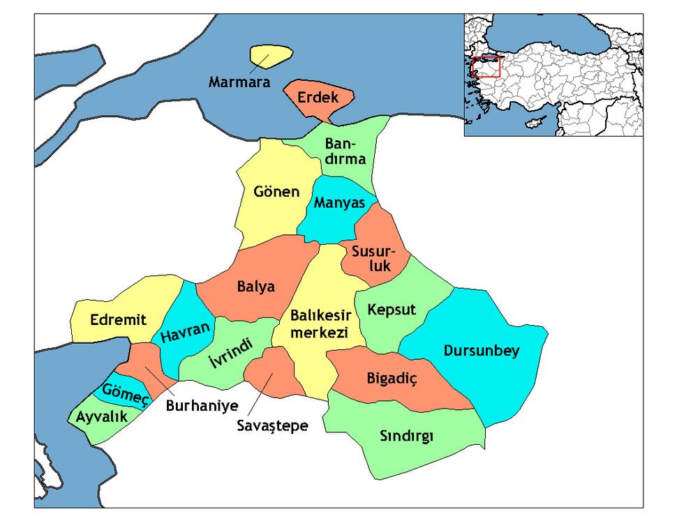 Balikesir districts