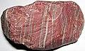 Banded jasper (hematitic chert) (fluvial pebble; Honduras) (33252076281).jpg
