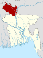 Bangladesh location map-Rangpur Division.svg
