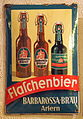 Barbarossa-Bräu flaschenbier enamel advertising sign.JPG