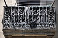 Barcelona (La Barceloneta). Balcony balustrade decorated with the staff of Hermes (caduceus), an allegory of trade. First half of 19th C. (20375829148).jpg