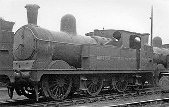 GCR Class 9A - N4/2 No. 69239 at Barnsley Locomotive Depot 10 April 1949