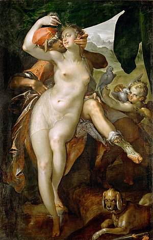 Bartholomeus Spranger - Venus and Adonis