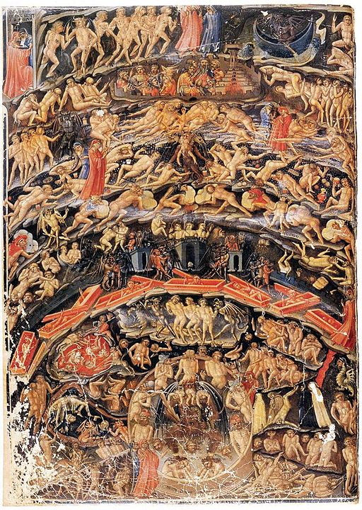 Bartolomeo Di Fruosino's painting of Inferno, from the Divine Comedy by Dante