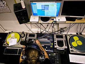 "Studio of Finnish local radio station ""Ba..."