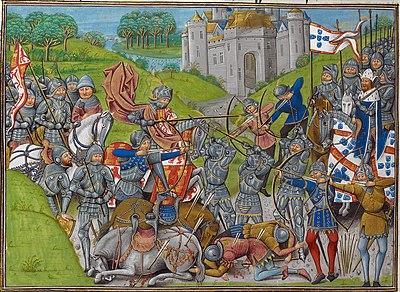 Batalla de Aljubarrota, 13 de agosto de 1385 entre las coronas de Portugal y Castilla