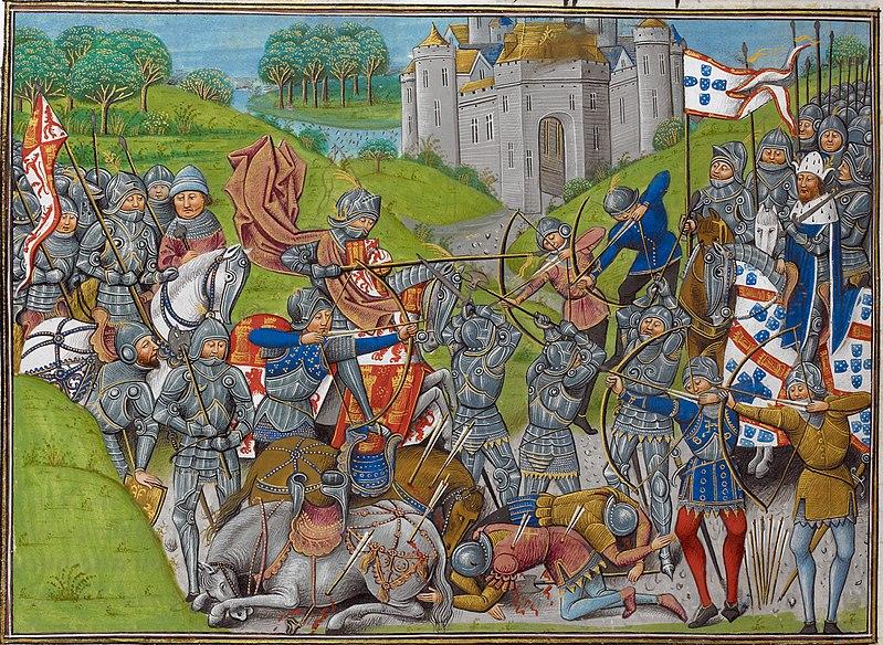 Batalla de Aljubarrota, 13 de agosto de 1385 entre las coronas de Portugal y Castilla.