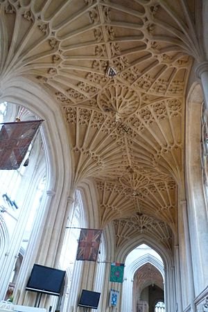 Fan vault - Bath Abbey, South aisle