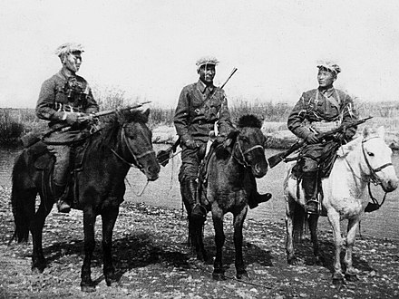 Mongolian cavalry in the Khalkhin Gol (1939) Battle of Khalkhin Gol-Mongolian cavalry.jpg