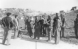 Battle of Mishmar HaEmek - Bay Mahdi, one of the ALA commanders, during te attack on Mishmar HaEmek, 1948