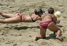 Sand bikini picture Beach in volleyball