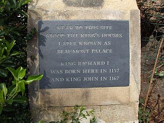 Beaumont Street - Image: Beaumont Palace plaque
