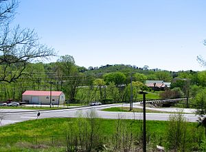 Beechgrove, Coffee County, Tennessee - Beechgrove, viewed from the Beech Grove Confederate Cemetery