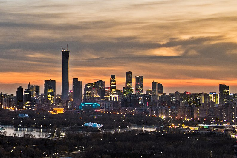 Beijing skyline from northeast 4th ring road (cropped).jpg