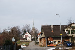 Beinwil am See - Village church and center of Beinwil