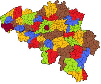 Arrondissements of Belgium - Administrative arrondissements of Belgium