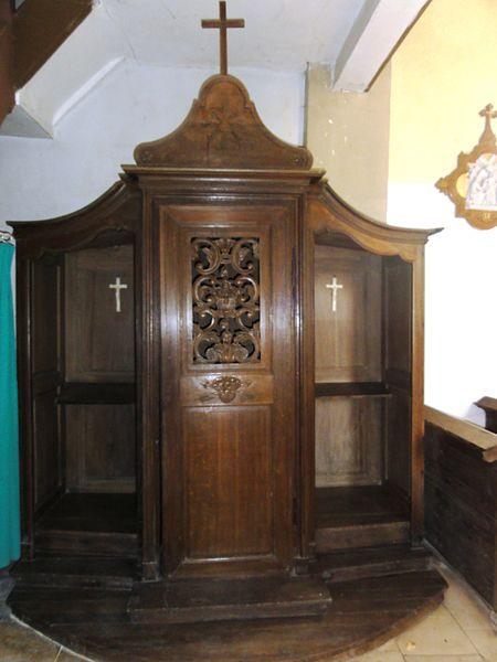 Belrupt-en-Verdunois (Meuse) église, confessional