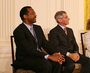 300px Ben Carson and Anthony Fauci Dr. Ben Carson, Neurosurgeon, Creationist