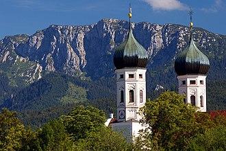 Benediktenwand - View from Benediktbeuern of the Benediktenwand