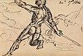 Benjamin Robert Haydon - Figure Studies of a Nude Male with Spear - B1977.14.2706 - Yale Center for British Art.jpg