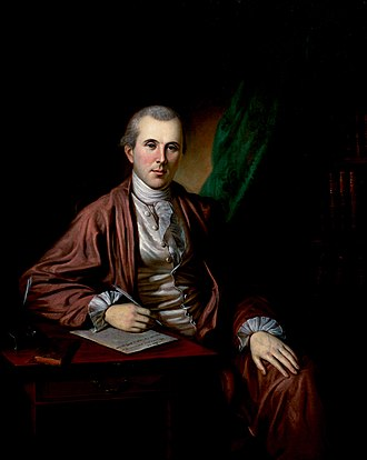 Banyan (clothing) - Image: Benjamin Rush Painting by Peale 1783