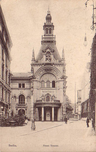 Theater am Schiffbauerdamm - Neues Theater, picture postcard, about 1908