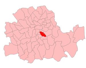 Bermondsey West (UK Parliament constituency) - Bermondsey West within London