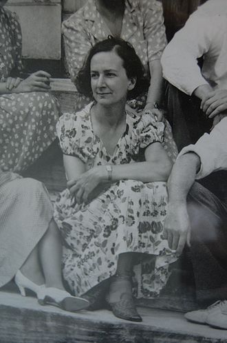 Bernadine Custer - Bernadine Custer Sharp, photographed with the founders of the Southern Vermont Art Center, c. 1950s