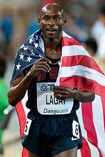 Bernard Lagat Kenyan-born track runner competing for United States