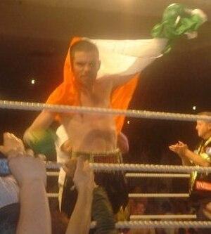Bernard Dunne - Dunne celebrates in Dublin
