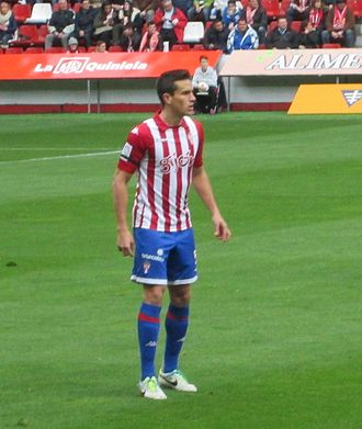 Bernardo Espinosa - Bernardo in action for Sporting Gijón in 2014