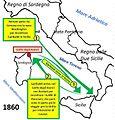 Bertani e Garibaldi verso Golfo Aranci 1860.jpg