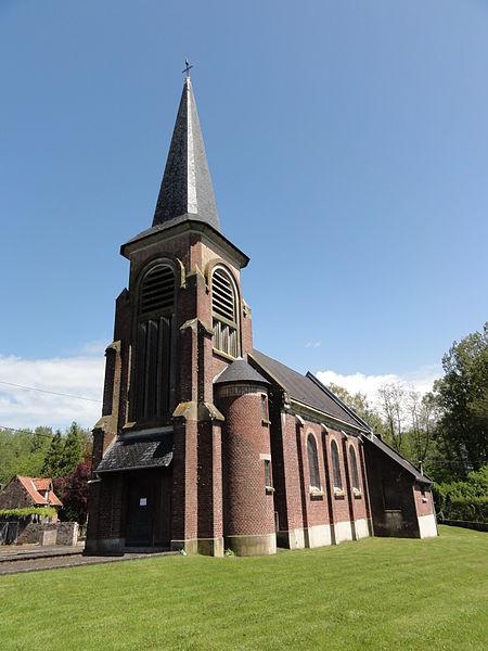 Berthenicourt (Aisne) église Saint-Basle