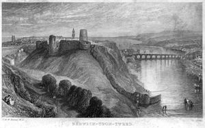 Berwick Castle - 19th century depiction of the castle