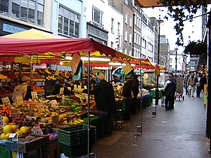 Berwick Street - The market in January 2006