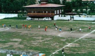 Changlimithang Stadium - Image: Bhutan soccerfield feve