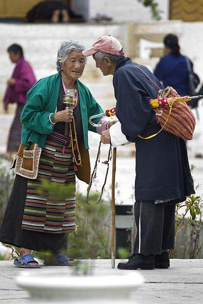two elderly people in Bhutan